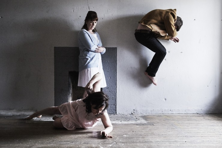 Emma O'Kane, Niamh McCann and Craig Connolly in ANU and COISCÉIM DANCE THEATRE'S THESE ROOMS